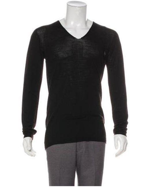 8896bcaddd549 Rick Owens - Black Long Sleeve V-neck Sweater for Men - Lyst ...