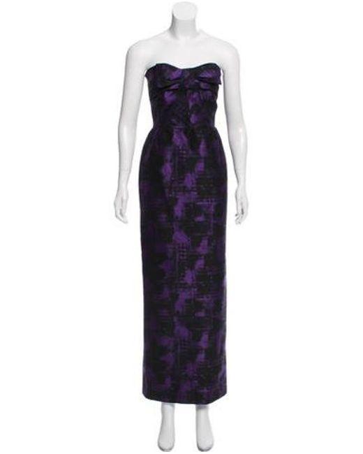 Lyst - Michael Kors Strapless Wool-blend Evening Dress in Black