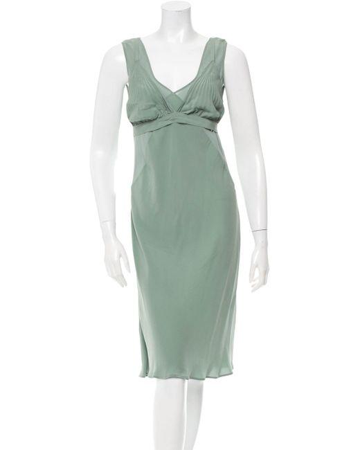 Jean Paul Gaultier | Green Silk Midi Dress | Lyst