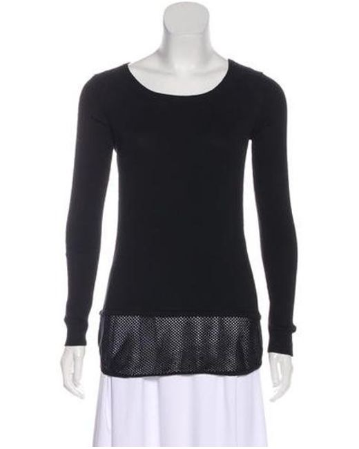 Sandro - Black Knit Long Sleeve Top - Lyst