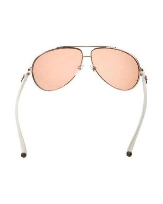 b49434a0f50 ... Chrome Hearts - Metallic Baby Gravy Aviator Sunglasses Gold - Lyst