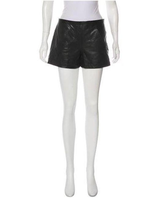 bf1cac0375 10 Crosby Derek Lam - Black Mid-rise Leather Shorts - Lyst ...