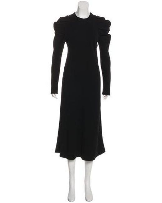 Lyst Brock Collection Long Sleeve Midi Dress In Black