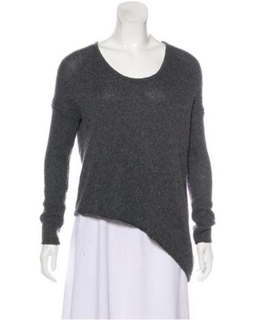 Helmut Lang - Gray Asymmetrical Knit Sweater Grey - Lyst