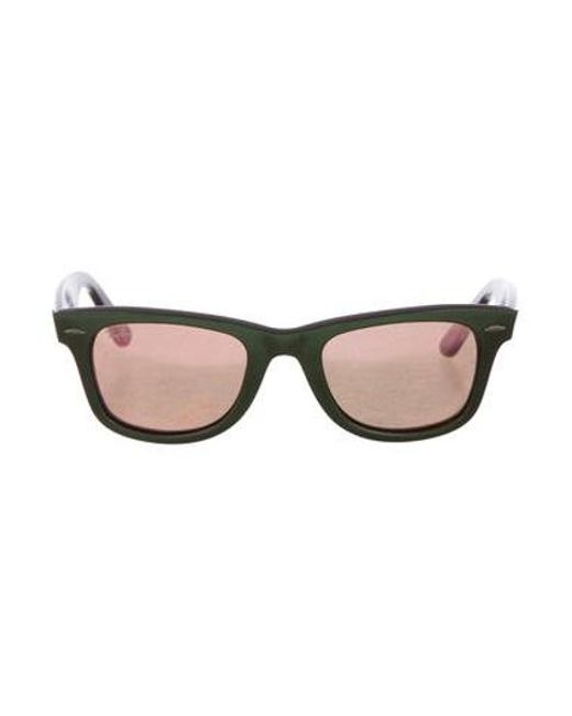 74f09c4893 Ray-Ban - Metallic Original Wayfarer Sunglasses Green - Lyst ...