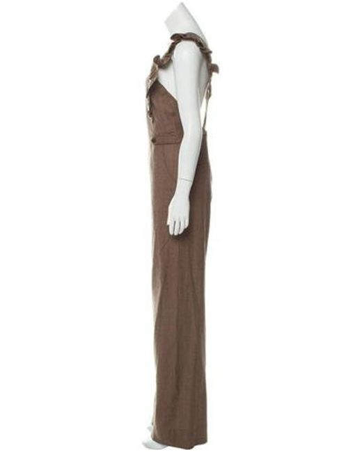 1f4cc8a6378 Lyst - Ulla Johnson Sleeveless Wide-leg Jumpsuit in Brown - Save ...