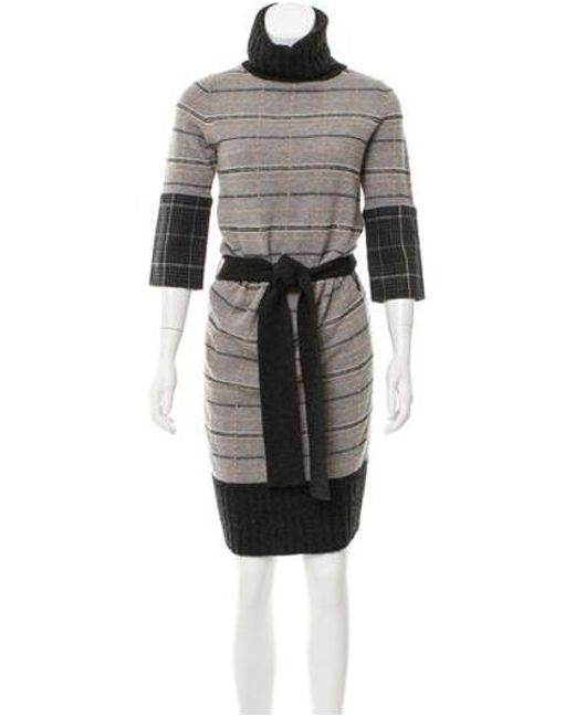 e0b8fb771c4 Diane von Furstenberg - Gray Turtleneck Wool Dress Grey - Lyst ...