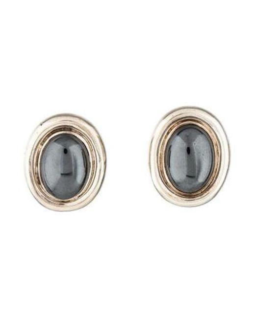 Tiffany & Co - Metallic Hematite Oval Earrings Silver - Lyst