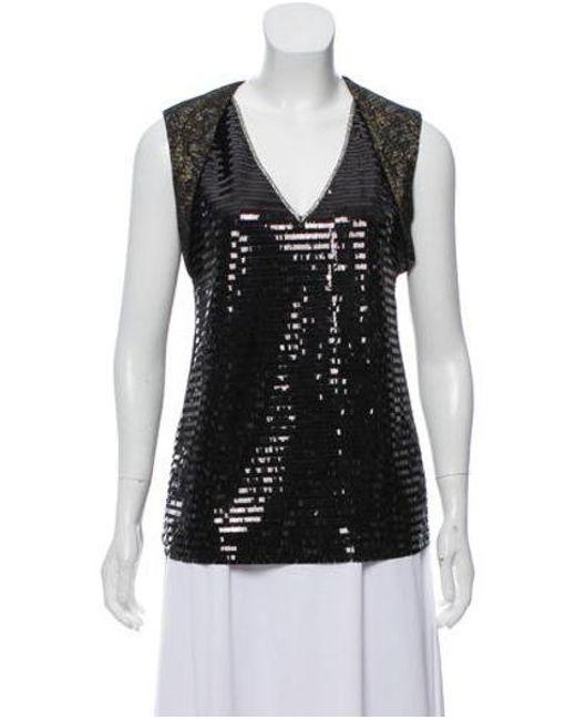 d6393a5792e7e3 Sachin   Babi - Black Sleeveless Sequin Top - Lyst ...