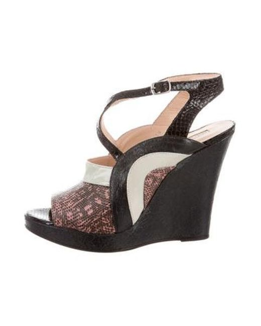 57f89f959a5 Dries Van Noten - Multicolor Embossed Wedge Sandals W  Tags - Lyst ...