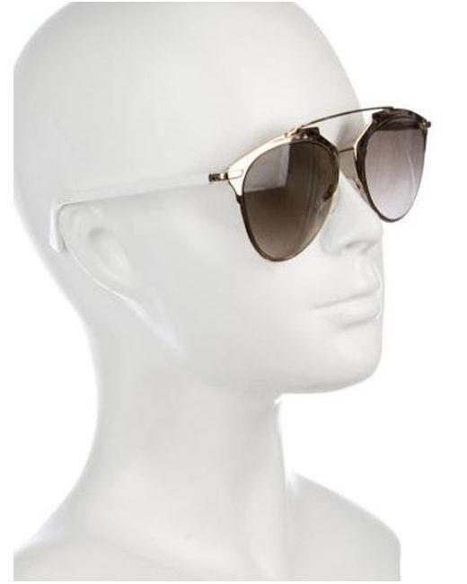 f6cc8b79f55c ... Dior - Metallic Reflected Aviator Sunglasses Gold - Lyst