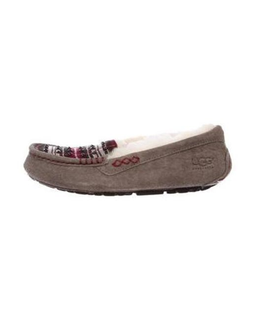Ugg - Gray Ansley Suede Slippers W/ Tags Grey - Lyst