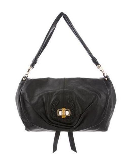 744f340e1f Nina Ricci - Metallic Leather Shoulder Bag Black - Lyst ...