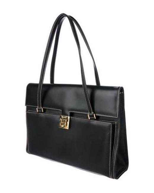3c90a3c0731 ... Ferragamo - Metallic Gancini Shoulder Bag Black - Lyst ...