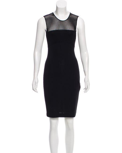Emilio Pucci - Black Knit Knee-length Dress - Lyst