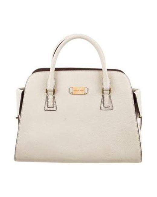 4fe821f754670 Michael Kors - Metallic Leather Handle Bag Gold - Lyst ...