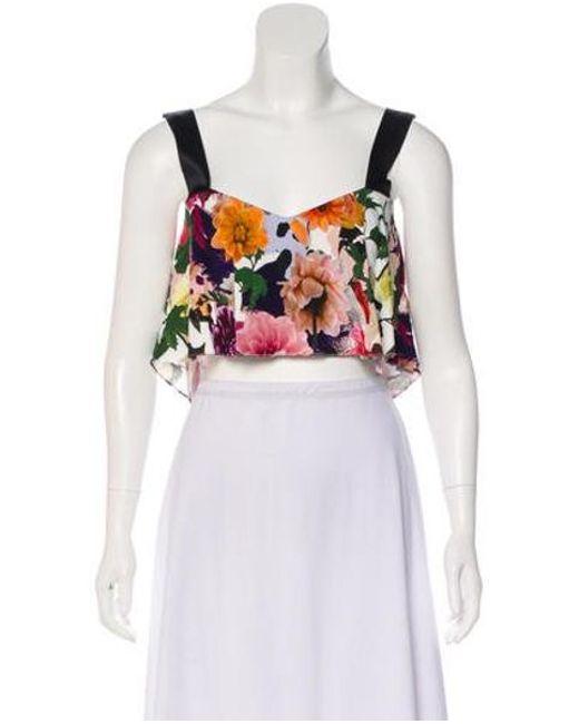 7fc9b5de33763a Cushnie et Ochs - Floral Crop Top W  Tags Multicolor - Lyst ...
