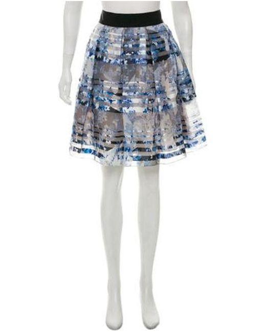b5b55630d9 Sachin & Babi - Blue Floral Print A-line Skirt - Lyst ...