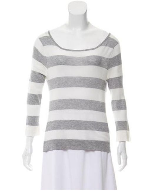 9644e23aa77 Rag   Bone - Gray Long Sleeve Knit Top Grey - Lyst ...
