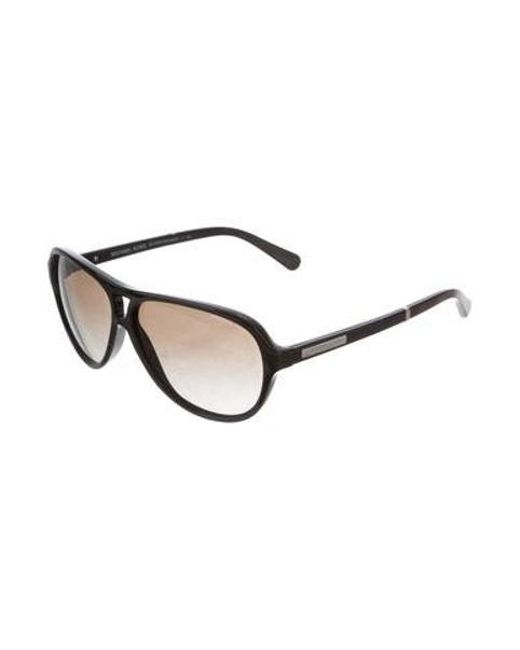 15d3b95cc9 ... Michael Kors - Metallic Wainscott Aviator Sunglasses Black - Lyst ...