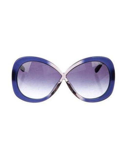 d5d99c2dfc72 Tom Ford - Gray Margot Sunglasses Navy - Lyst ...