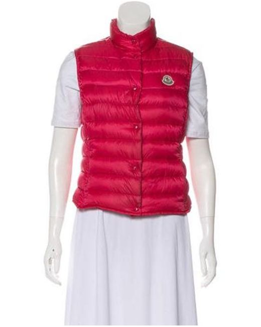 99f467aa5 Lyst - Moncler Liane Puffer Vest Magenta in Pink