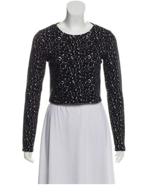 bad2ca6347e3e Alice + Olivia - Black Patterned Crop Top - Lyst ...