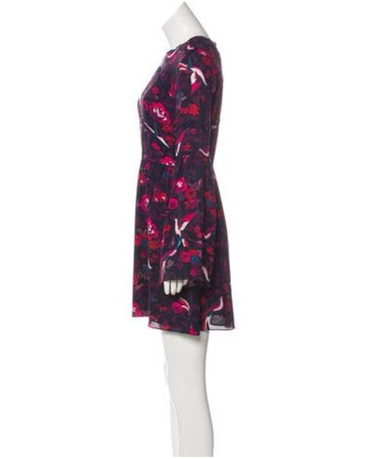 e6774312394 ... Tanya Taylor - Natural Printed Silk Mini Dress Purple - Lyst ...