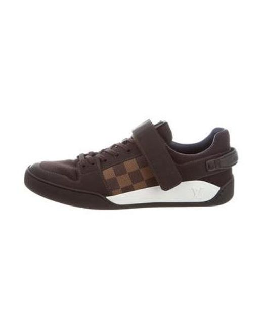 Louis Vuitton - Brown Elliptic Damier-paneled Sneakers for Men - Lyst