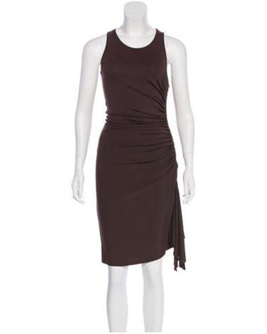 977eecbe04f4 Michael Kors - Metallic Knee-length Sleeveless Dress Brown - Lyst ...