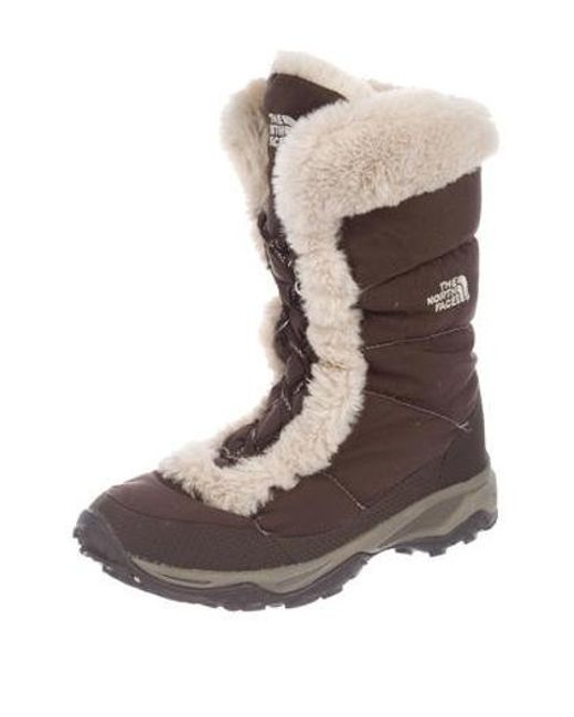 ff08ad7c8 Lyst - The North Face Quilted Snow Boots in Brown