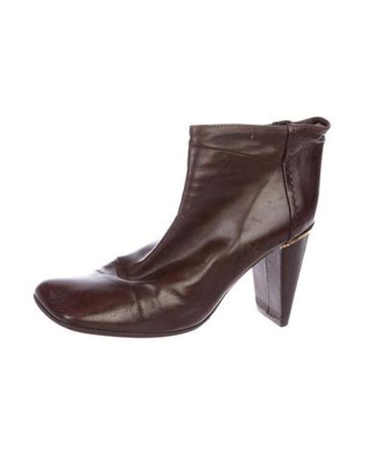 c032da6f89da ... Louis Vuitton - Metallic Leather Square-toe Ankle Boots Brown - Lyst ...