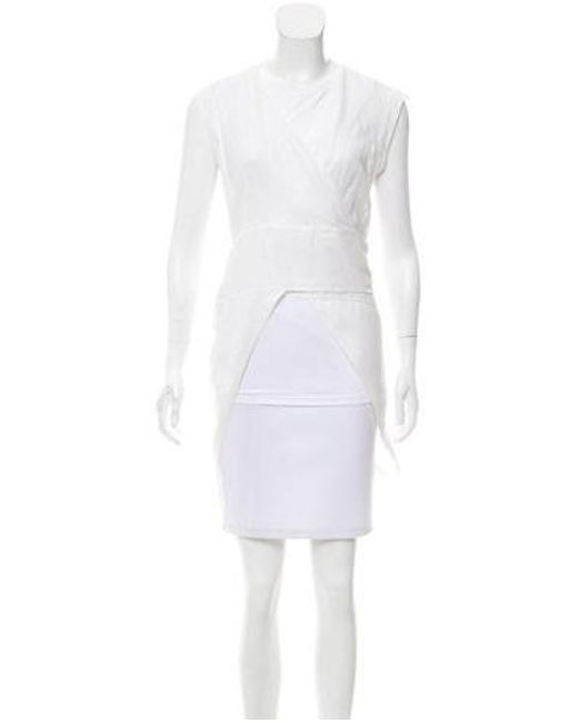 Brunello Cucinelli - White Layered Sleeveless Top - Lyst