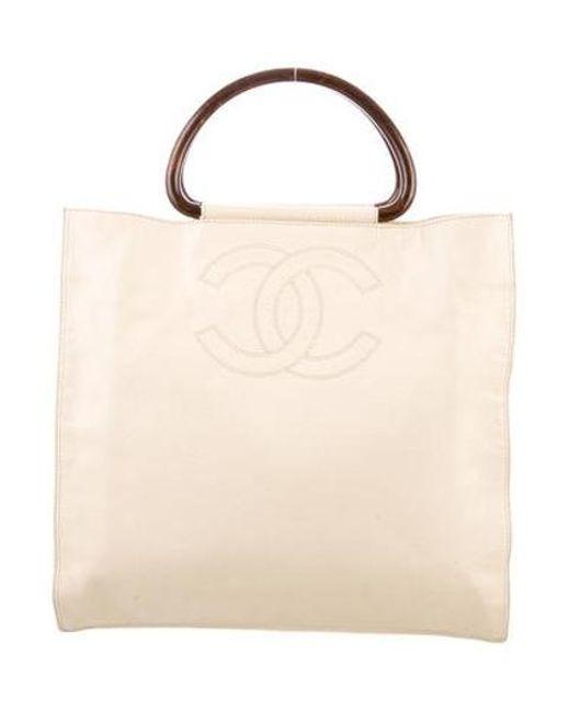 da7058128347 Chanel - Metallic Vintage Cc Caviar Handle Bag Gold - Lyst ...