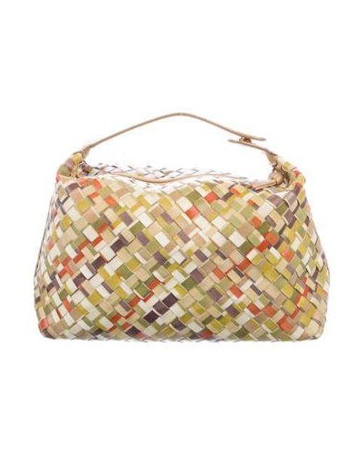 Bottega Veneta - Metallic Intrecciato Cosmetic Bag Green - Lyst ... 3b76b761d920f