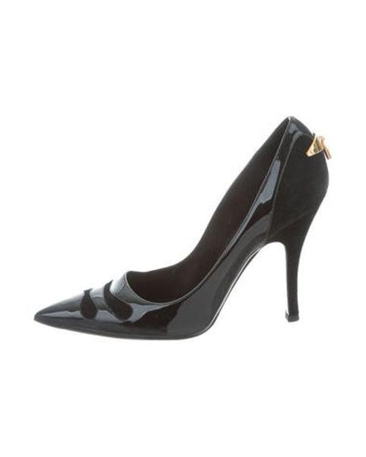 8bf2c58af417 Louis Vuitton - Black Patent Leather Pointed-toe Pumps - Lyst ...