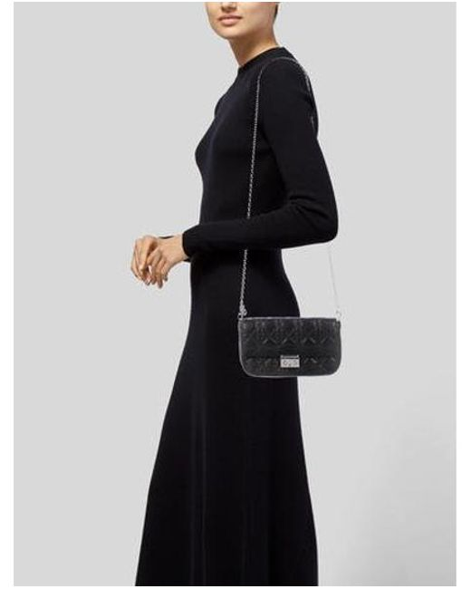 2edb5ab55f2a ... Dior - Metallic Miss Promenade Pouch Bag Black - Lyst ...