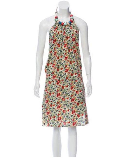ce0329522ef Cacharel - Red Printed Halter Dress - Lyst ...