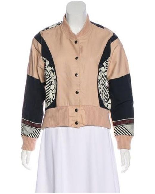 Suno - Pink Rib Knit-trimmed Bomber Jacket - Lyst