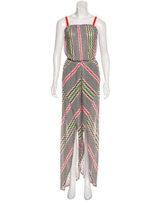 36029d60aa Missoni - White Sleeveless Striped Jumpsuit - Lyst ...
