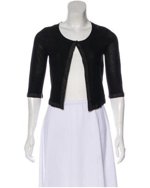 b949c2eae7 Narciso Rodriguez - Black Silk Knit Cardigan - Lyst ...