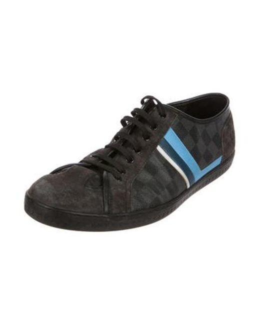 587684fa52a ... Louis Vuitton - Blue Damier Low-top Sneakers for Men - Lyst ...