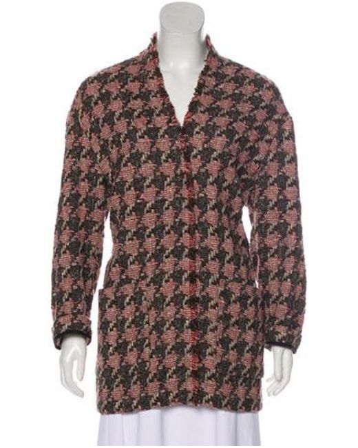3bb4c3184e7 Isabel Marant - Brown Tweed Short Coat - Lyst ...