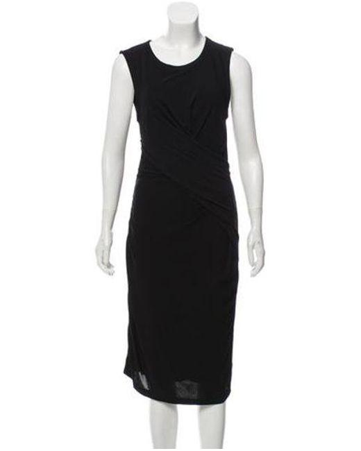 T By Alexander Wang - Black Casual Sleeveless Dress - Lyst