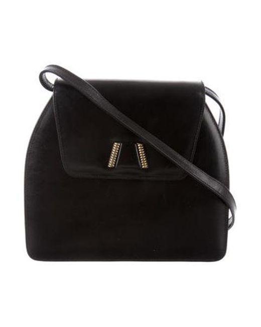 Ferragamo - Metallic Leather Crossbody Bag Black - Lyst ... b43c05c5b33d4