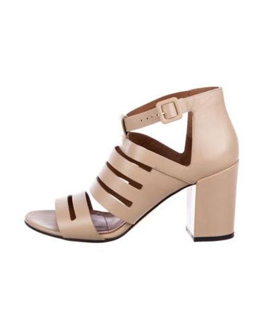 ae943412f1e Givenchy - Natural Leather Cage Sandals Beige - Lyst ...
