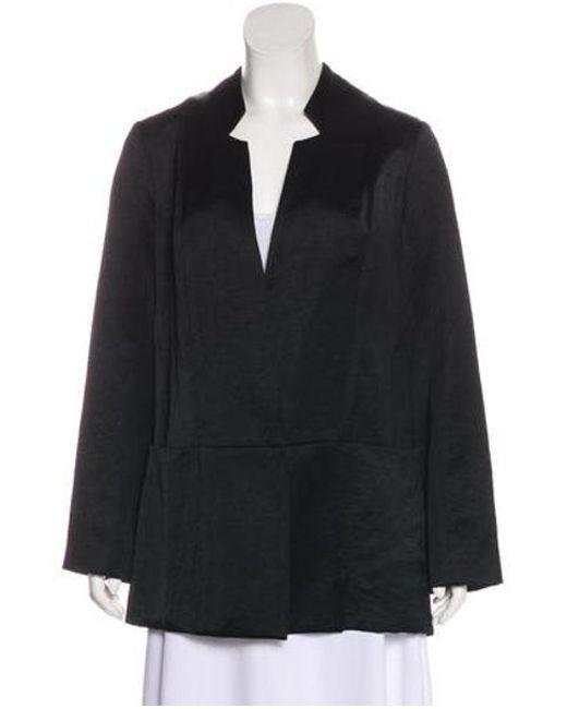Zero + Maria Cornejo - Black Linen-blend Coat - Lyst