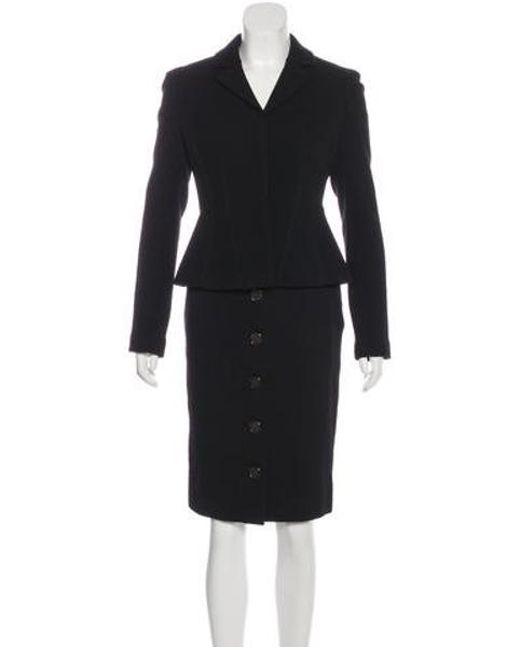 ccbe2306a699 Diane von Furstenberg - Black Wool Skirt Suit - Lyst ...