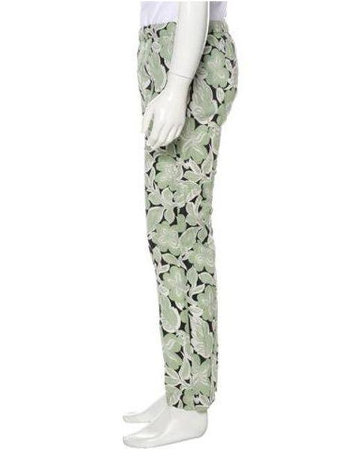 9f10db6017d2 ... Dries Van Noten - Black Floral Woven Pants for Men - Lyst ...