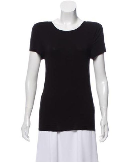 959d748431cc Alice + Olivia - Black Structured Short Sleeve Top - Lyst ...